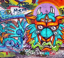 Graffiti Wall Art Tengu. by eXparte-se