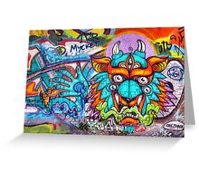 Graffiti Wall Art Tengu. Greeting Card