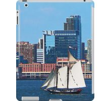 Yacht Against Manhattan Skyline iPad Case/Skin