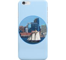 Yacht Against Manhattan Skyline iPhone Case/Skin