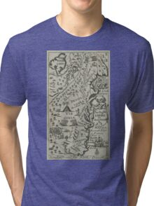 Map of the English Empire in America 1685 Tri-blend T-Shirt