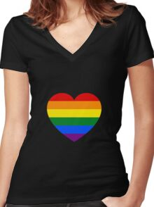 Love and Pride Women's Fitted V-Neck T-Shirt