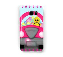 Happy Easter Spring Chick Driving Pink Car Samsung Galaxy Case/Skin