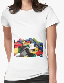 LEGO Bricks Pile Womens Fitted T-Shirt