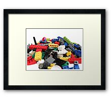 LEGO Bricks Pile Framed Print