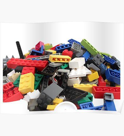 LEGO Bricks Pile Poster
