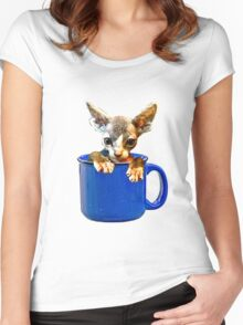 Cute kitty Women's Fitted Scoop T-Shirt