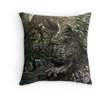 The Owl Key Throw Pillow