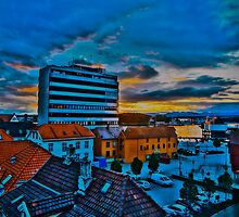 Sunrise over Stavanger, by Tim Constable by Tim Constable