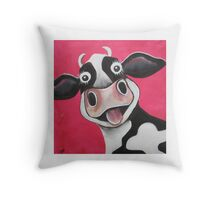 Mrs Cow Throw Pillow