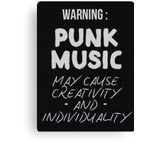 Punk Quote Canvas Print