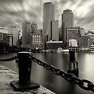 Boston Harbor B&W by jswolfphoto
