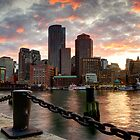 Boston Harbor Clouds by jswolfphoto