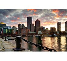 Boston Harbor Clouds Photographic Print