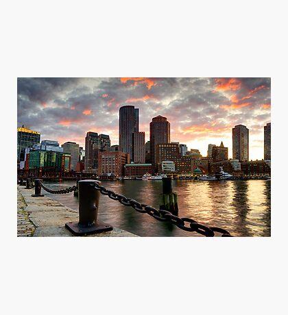 Boston Harbor Clouds Photographic Print