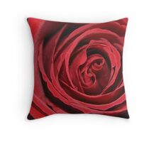 Red velvet rose bud Throw Pillow