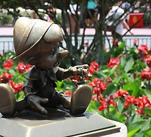 Pinocchio and Jiminy Cricket by MFleming