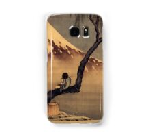 Boy in front of Fujiama - Hokusai - Views of Mount Fuji Print Samsung Galaxy Case/Skin