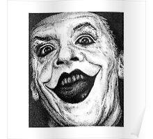 Jack Nicholson Joker Stippling Portrait Poster
