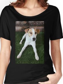 Happy Dog Winking Women's Relaxed Fit T-Shirt