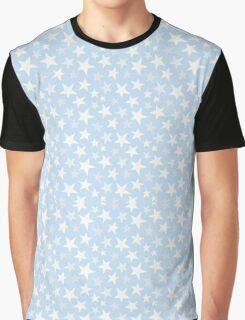 Blue and White Stars Graphic T-Shirt