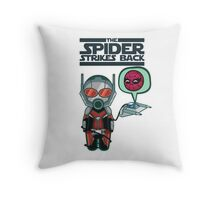 ANT VS SPIDER Throw Pillow