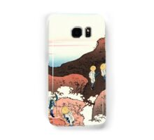 Climbing on Mt. Fuji - Hokusai - Views of Mount Fuji Print Samsung Galaxy Case/Skin