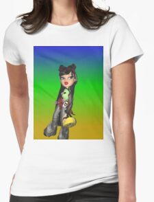 Bratz kumi doll cyber goth picture Womens Fitted T-Shirt