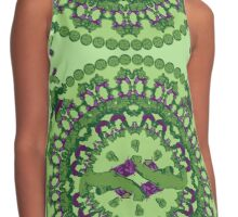 Green punch Contrast Tank