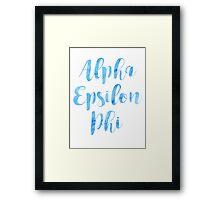 Alpha Epsilon Pi Framed Print