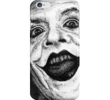 Jack Nicholson Joker Stippling Portrait iPhone Case/Skin