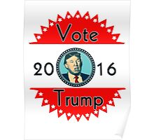 2016 US Elections Vote for Trump Poster