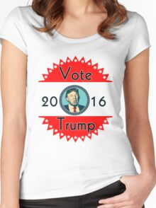 2016 US Elections Vote for Trump Women's Fitted Scoop T-Shirt