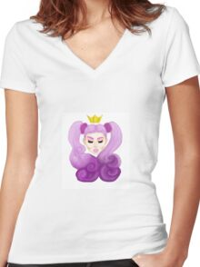 Real princesses Women's Fitted V-Neck T-Shirt