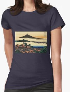 Dawn at Isawa in the Kai province - Hokusai - Views of Mount Fuji Print Womens Fitted T-Shirt