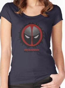 DeadPool Mask Women's Fitted Scoop T-Shirt