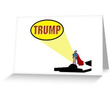 Donald Trump and US elections Greeting Card