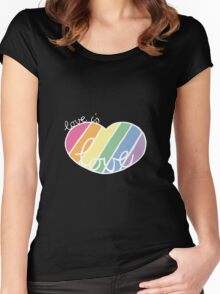 Love is love rainbow Women's Fitted Scoop T-Shirt
