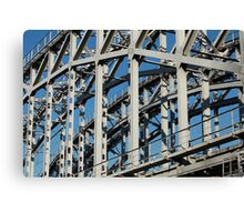riveted  bridge Canvas Print