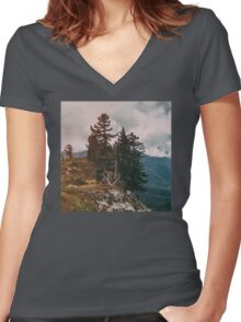 Northwest Forest Women's Fitted V-Neck T-Shirt