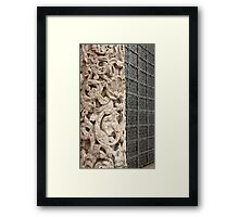 carved stone column  Framed Print