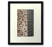 carved stone column  Framed Print