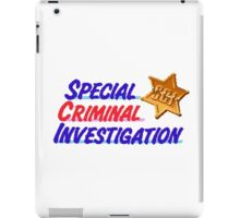 Special Criminal Investigation iPad Case/Skin