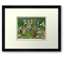 The Muppets Garden Framed Print