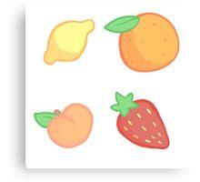 Fruity Grid Canvas Print