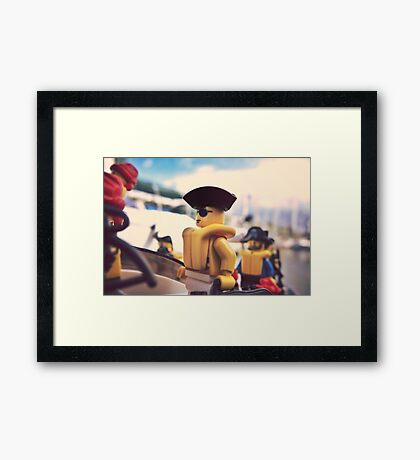 Pirate-Yacht packing Framed Print