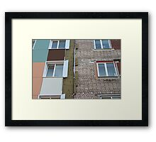 Thermal insulation of a house wall Framed Print