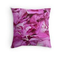 the ragged petals rose Throw Pillow