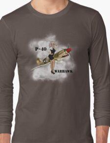 P-40 Pin Up Art Long Sleeve T-Shirt