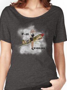 P-40 Pin Up Art Women's Relaxed Fit T-Shirt